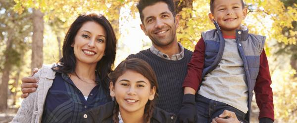 Family portrait (stock photo).